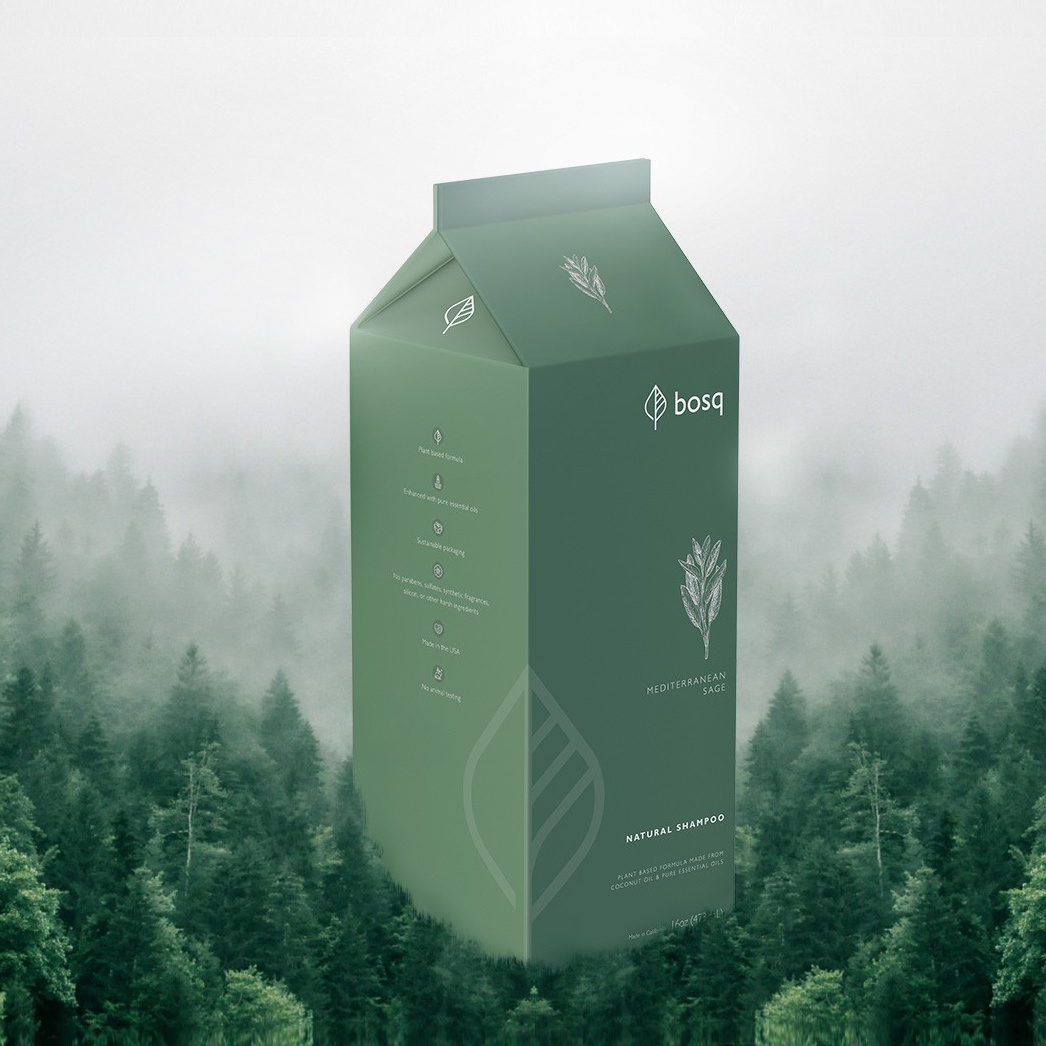 Green carton design for soap company