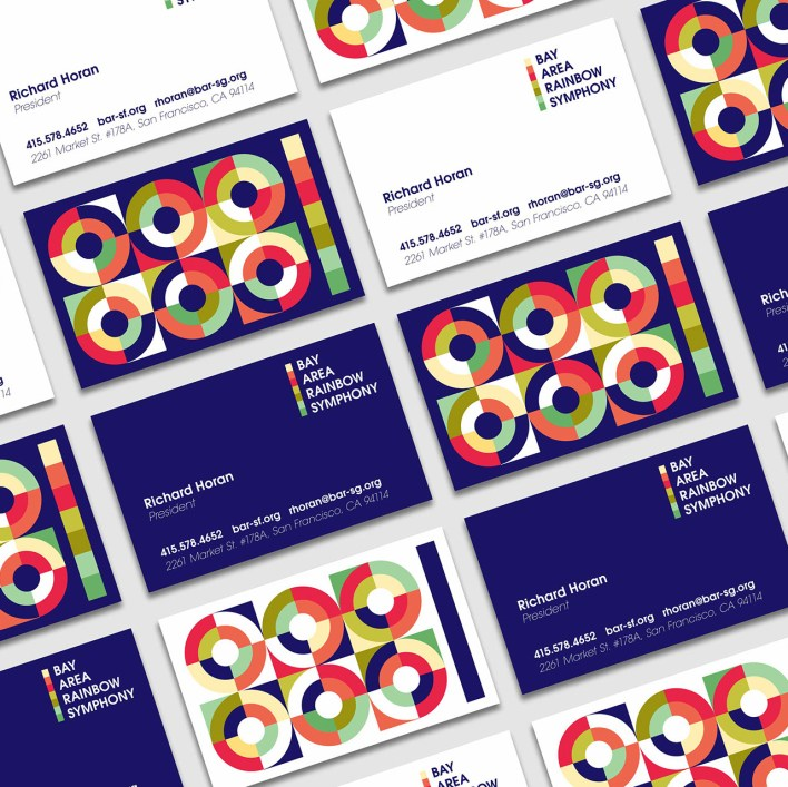 Brand identity design for the Bay Area Rainbow Symphony