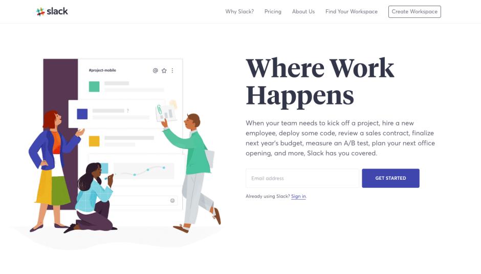 Slack website screenshot