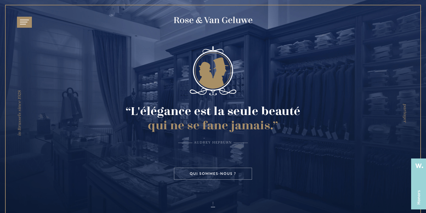 Rose & Van Geluwe web design