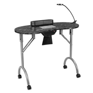 LUXEUP Nail Table with Built-in Dust Collector