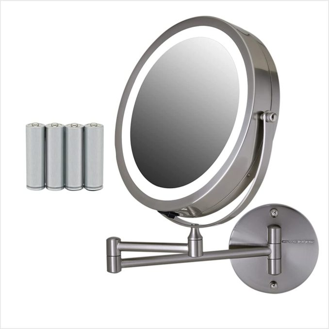 Ovente Lighted Wall Mount Makeup Mirror