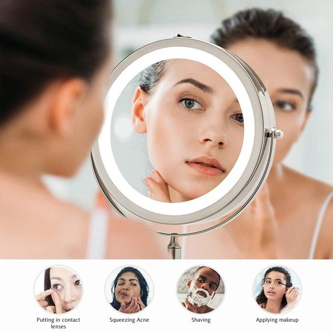 Wall Mounted Makeup Mirror 2021