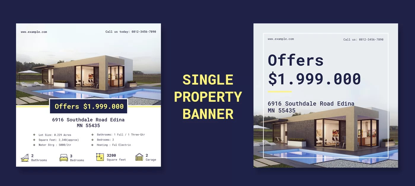 property banner psd template