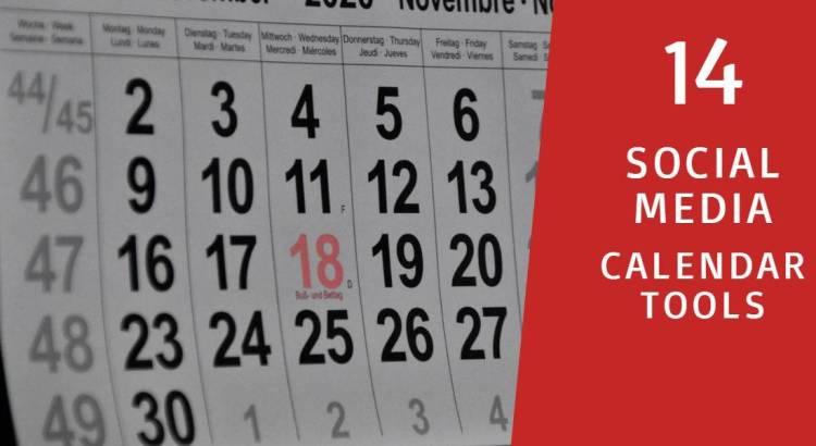 14 social media calendar tools blog pic