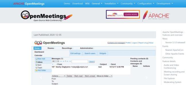 apache open meeting software