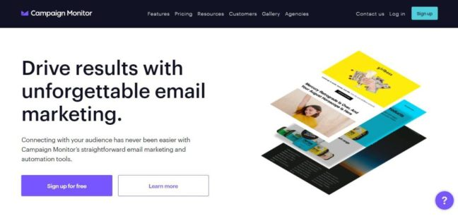 campaign monitor email management list