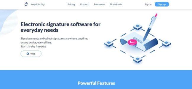 keepsoli electronic signature app