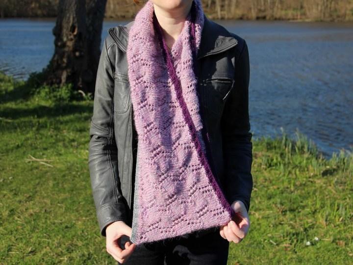 snood tricoté en dentelle avec de la laine vintage