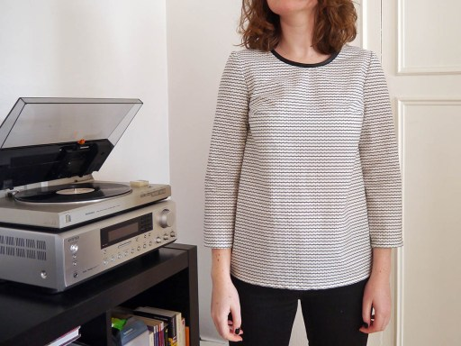 devant blouse cousue