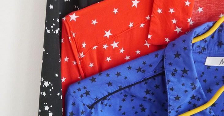 dressing de chemises à étoiles