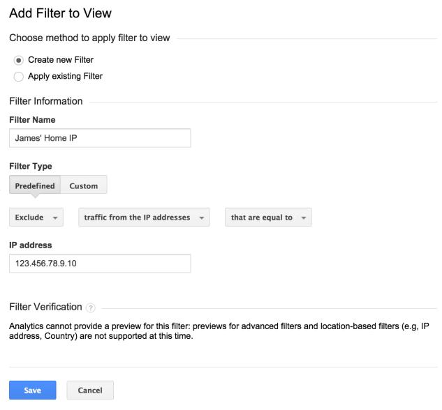 filter ips google analytics