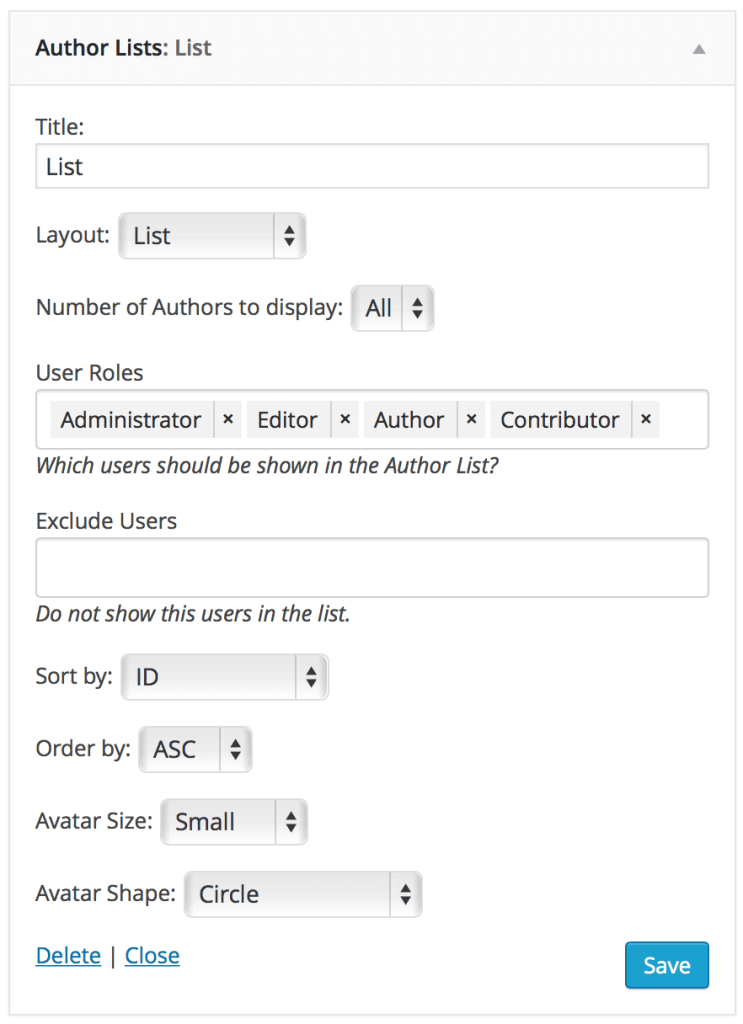 author-lists-widget