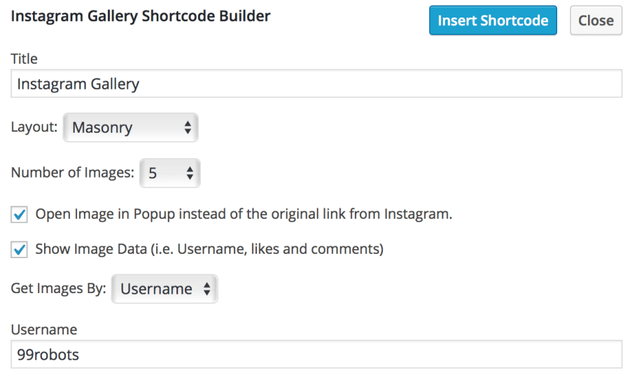 instagram-gallery-shortcode-settings