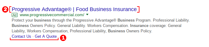 Progressive Search Ad Example and analysis