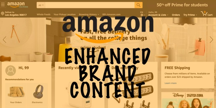 What is Amazon Enhanced Brand Content?