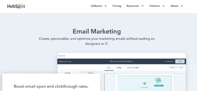HubSpot Email Marketing mailchimp alternatives