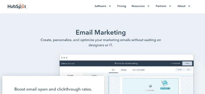 HubSpot Email Marketing mailchimp alternatives