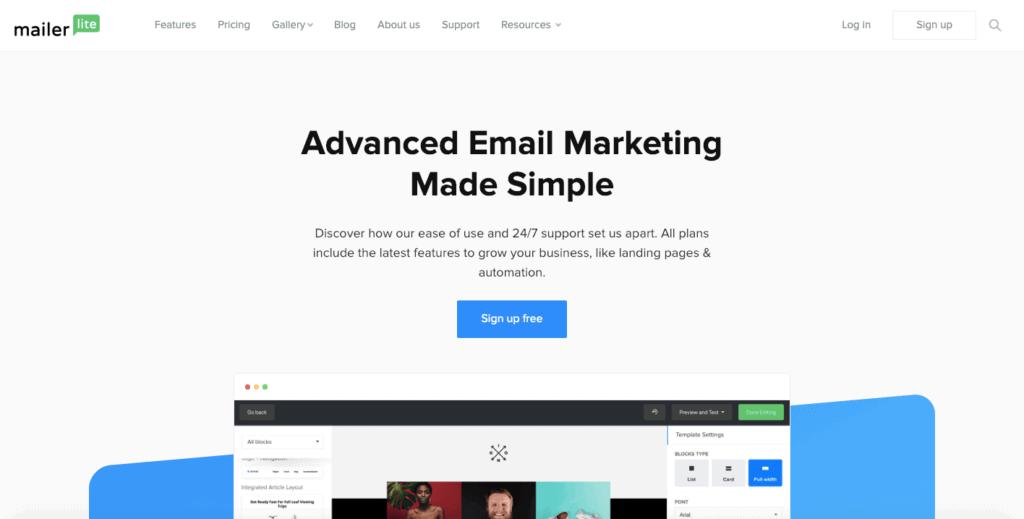 MailerLite Email Services Free Mailchimp Alternatives 2019(