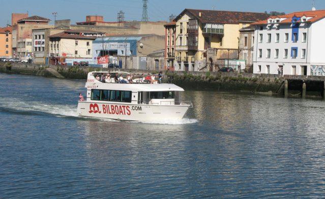 pleasureboat on river