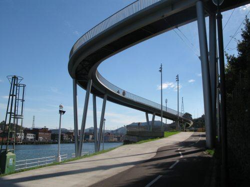 curvy footbridge