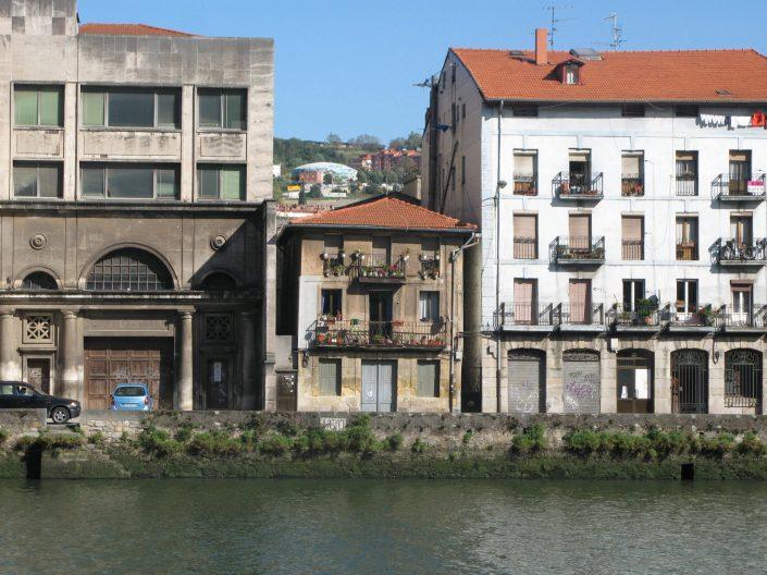 old riverside buildings