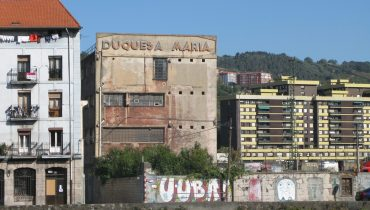 Duqesa Maria - sign on derelict factory