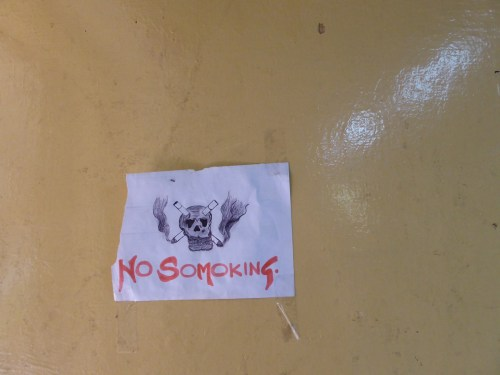 hand drawn no somoking sign