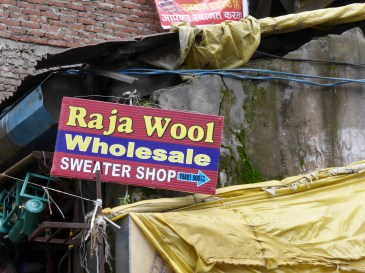 Raja Wool handpainted sign