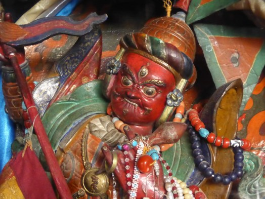 red painted deity