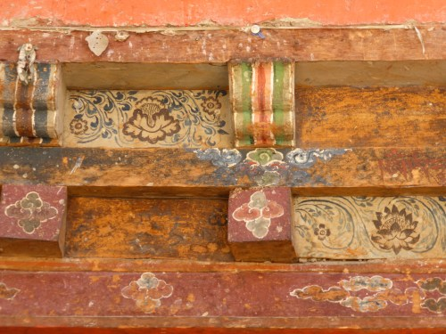 painted lintel - detail