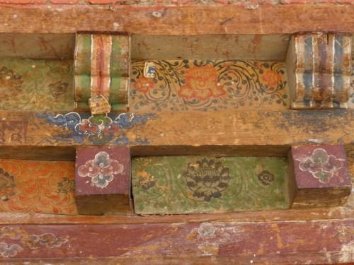 painted lintel - detail