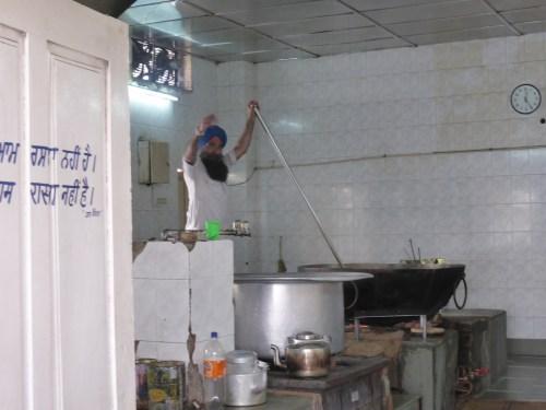giant wok and dahl pot