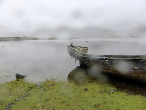 misty lochside