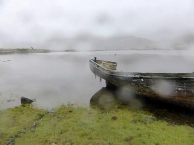 misty lochside