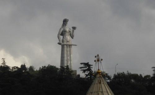 concrete 'mother' statue
