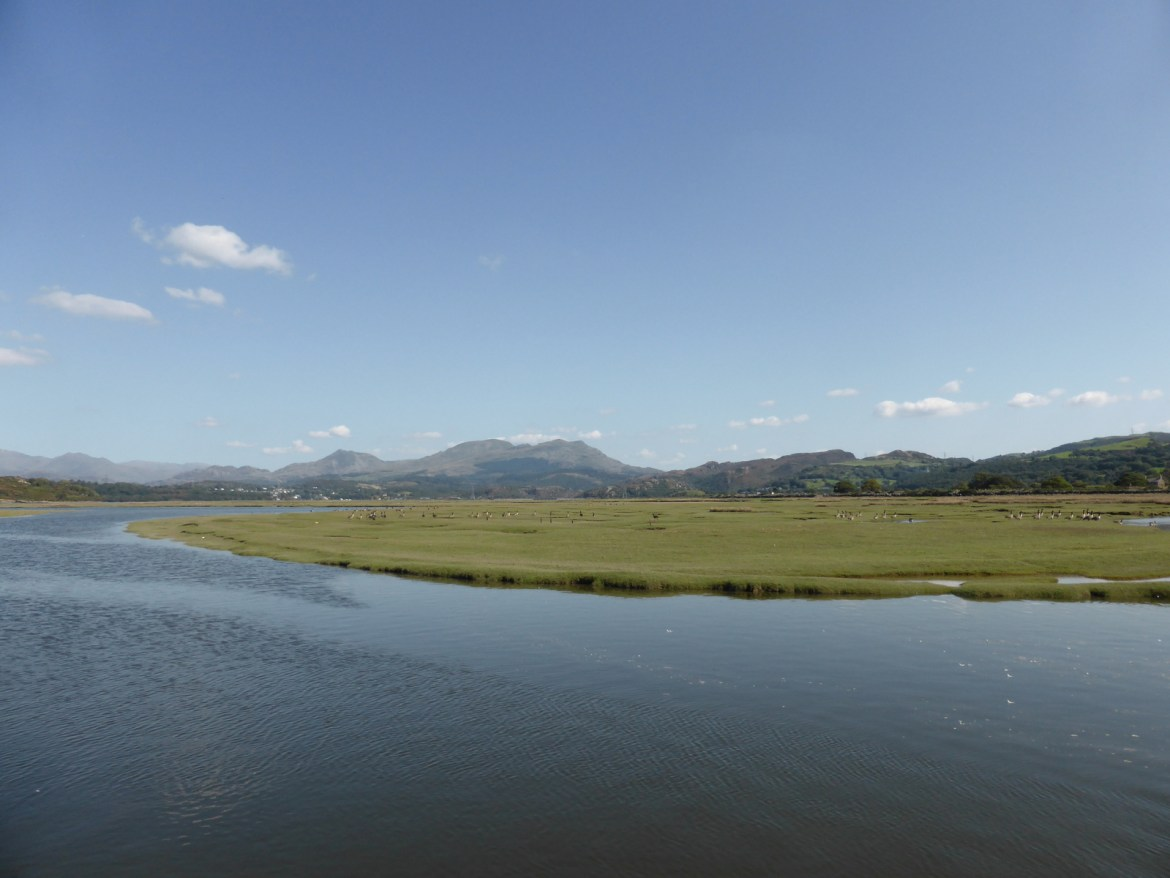 Cnicht and the Moelwyns across the saltmarsh
