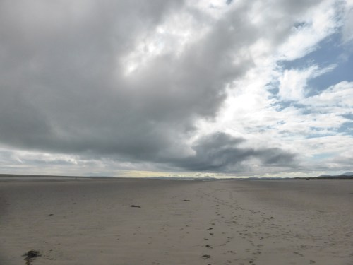 cloudfront above beach