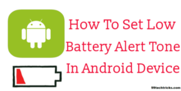 how to set low battery notification