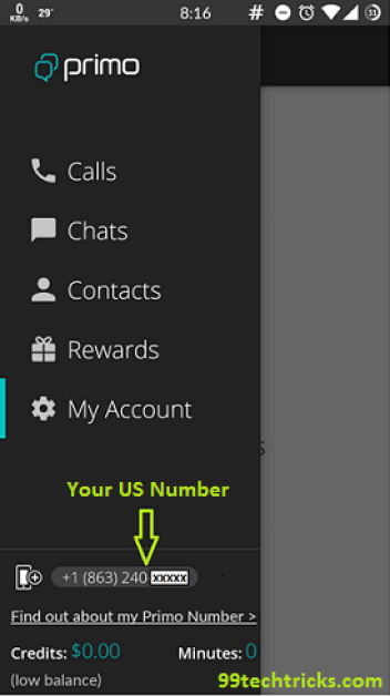 Create Whatsapp with US number by primo