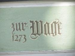 Fassadendetails Konstanz : Zur Wage 1273