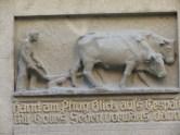 Gedicht zur Landwirtschaft mit Gottes Segen - Konstanzer Fassadendetail