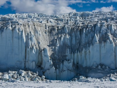 While in Antarctica, Helen Glazer photographed the massive glaciers.
