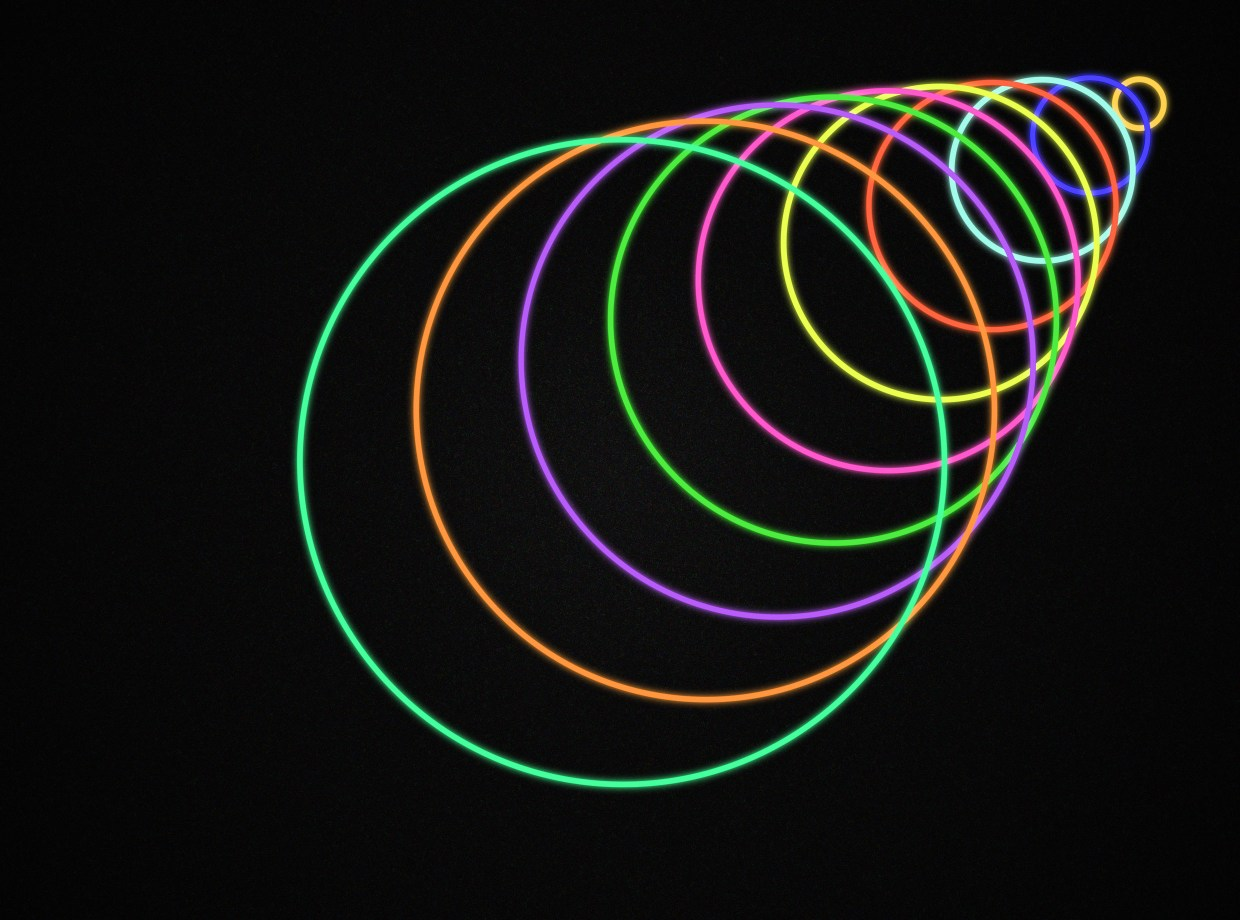 99U's Best of Innovation article represented with growing circles in various colors. Image by Julie Campbell