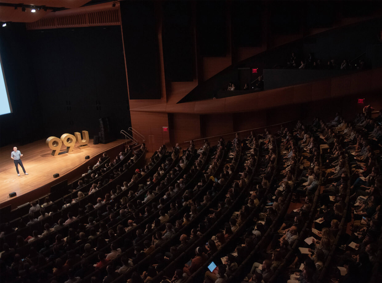 Audience at 99U's annual conference