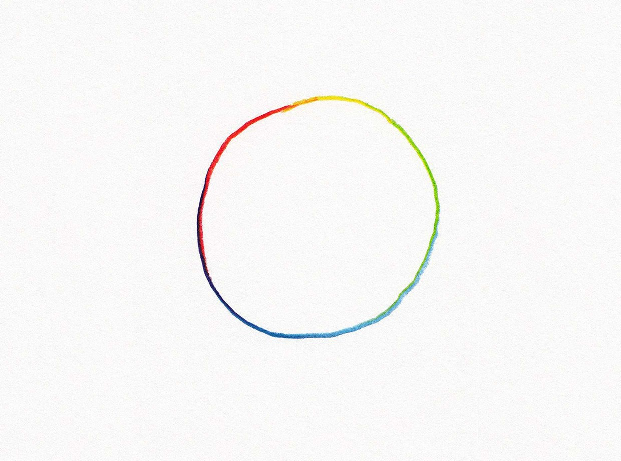 All of the Colors Hand Drawn Circle by Jason Polan for 20x200