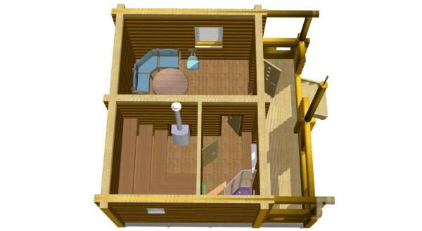 20 этапов строительства бани 5 на 6 из бруса [+ОБЗОР 3 ...