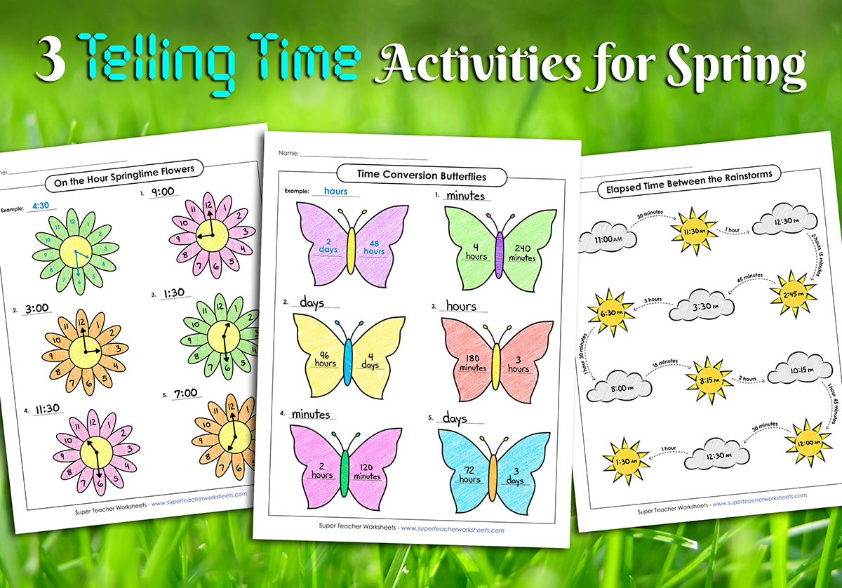Spring Telling Time Activities