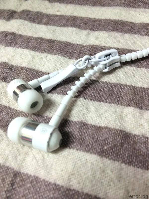 ジッパーコード重低音カナル型イヤホンDN-11430