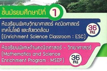 MSEP , ESC สามเสนวิทยาลัย คะแนนสูงสุดต่ำสุด